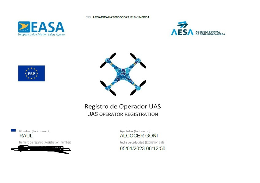 REGISTRO OPERADOR EN AESA NORMATIVA EUROPEA DRONES 2021